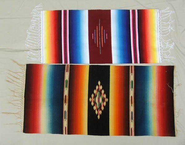 1507: 2 Mexican Table Runners  44''x18.5'', 4l''x15''