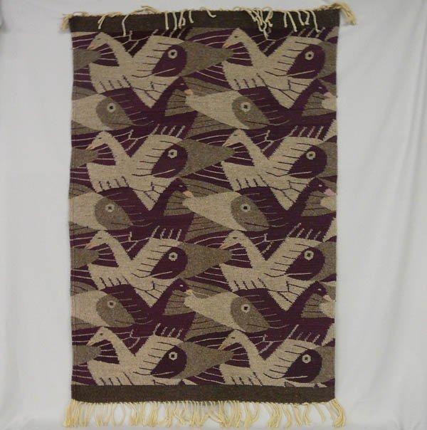 1512: South American Eye Dazzler Textile Rug 32x46''