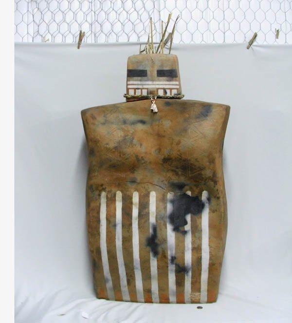 1513: Large California Pottery Humanoid Kachina 41''