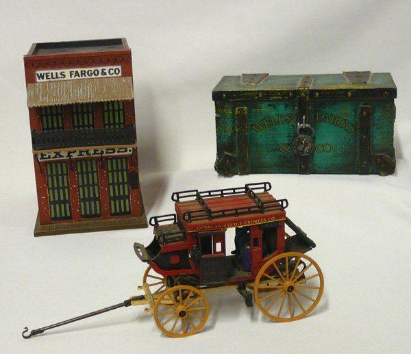 3 Wells Fargo Bank, Chest & Stagecoach