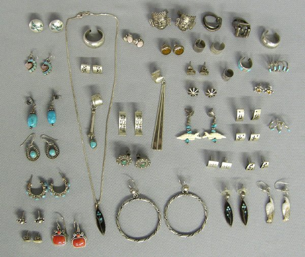 1003: Collection Of 25 Plus Earrings & Rings