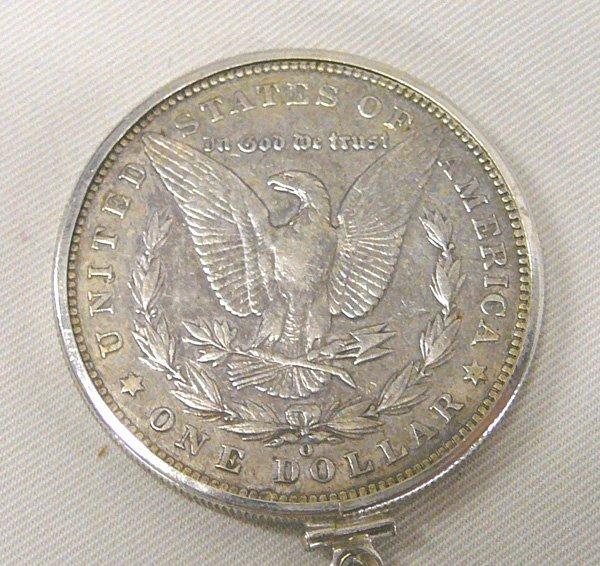 1042: 1901 Morgan Silver Dollar Pendant Necklace 24'' - 4