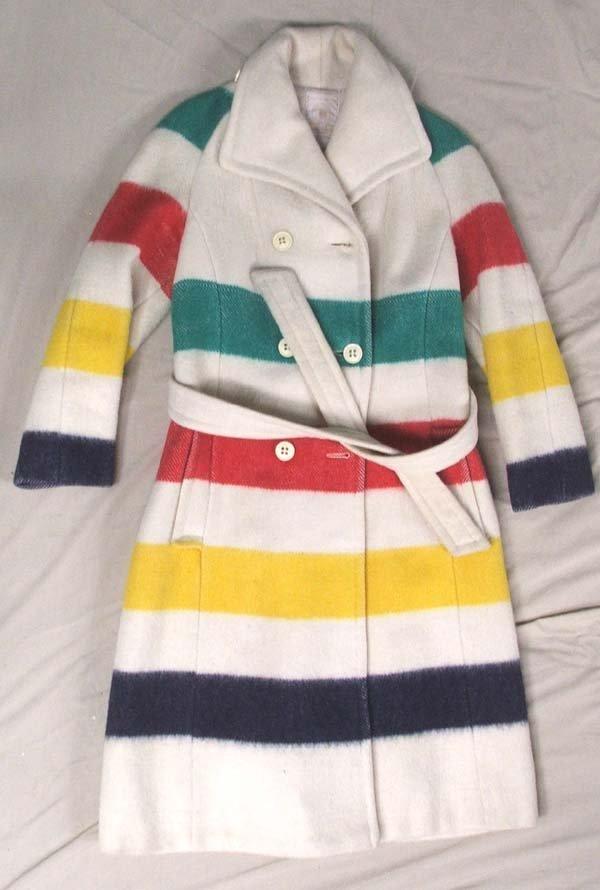 1073: Vintage Hudson Bay Coat Size 8