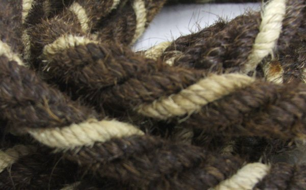 1115: Horse Hair Mecate Style Reins 22' - 2