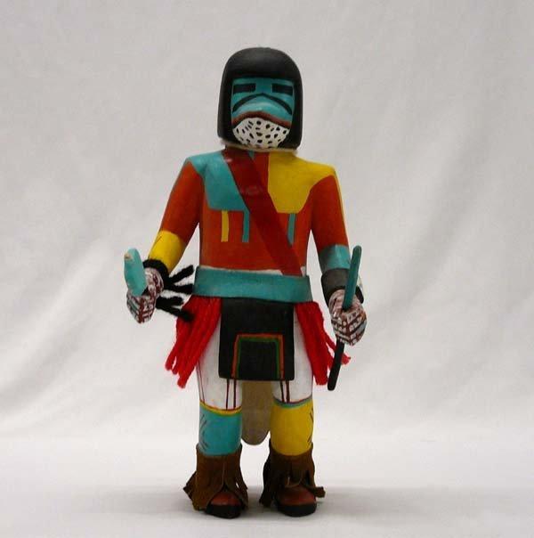 1006: Hopi Carved Wood Kachina 9'' Tall.