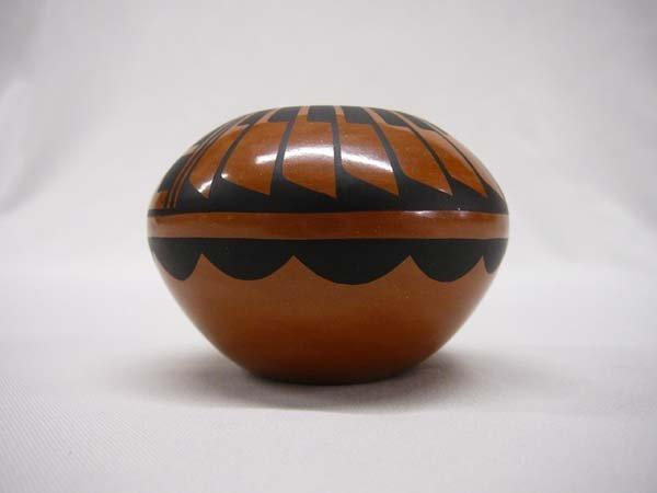 1014: Miniature Hopi Pottery Bowl by C G Loretto 2x3''