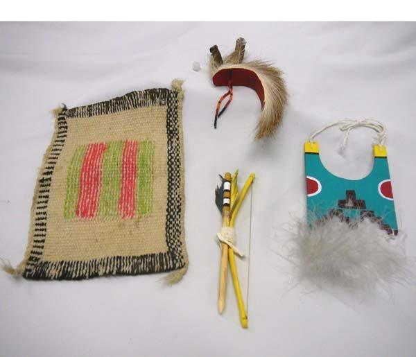 1015: 4 Native American Miniatures, some are Cochiti