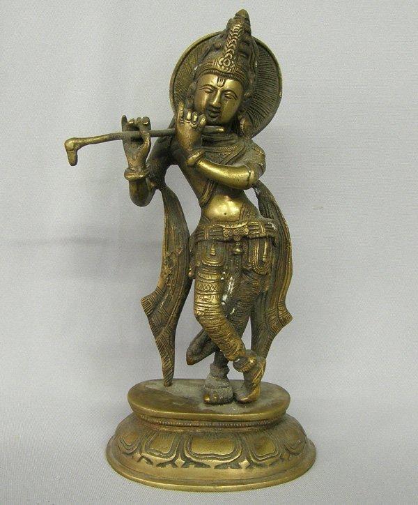 1001: Bronze Indian Statue 11''