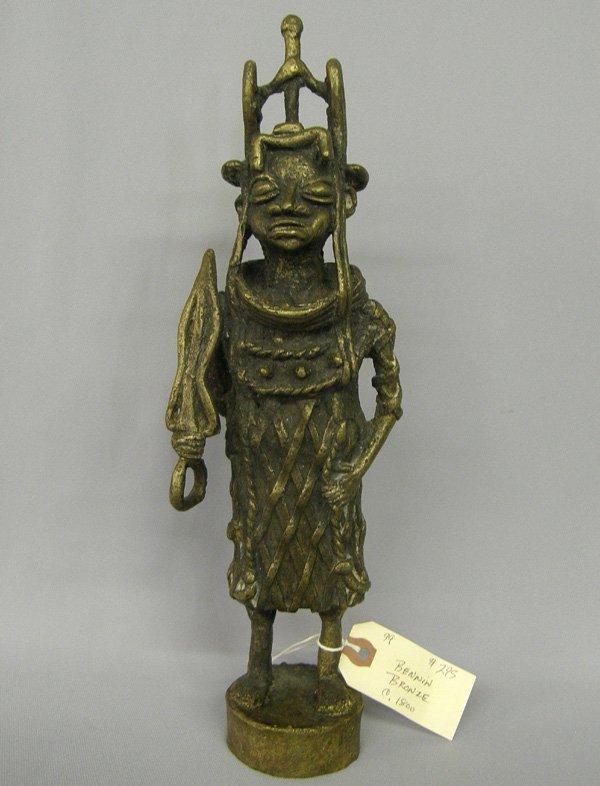 1005: Bennin Bronze Statue Circa 1800 13''H