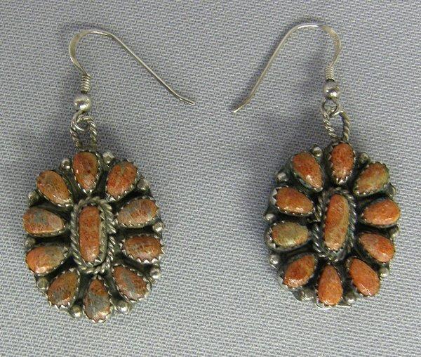 1017: Navajo Reversible Pierced Earrings By Begay 1x3/4