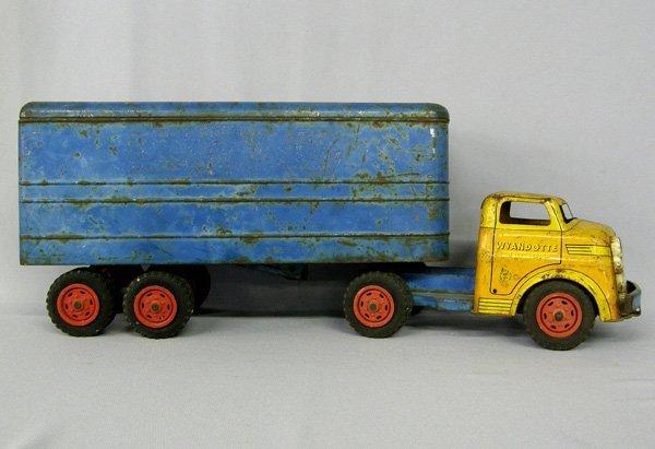 1019: Vintage Wyandotte Toy Truck & Trailer 21''
