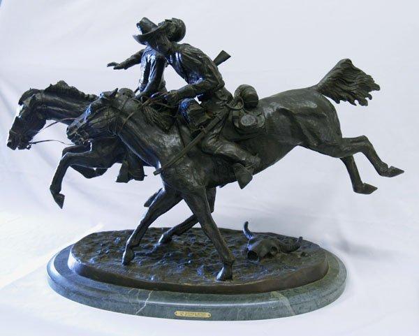 1260: Frederick Remington Bronze Restrike, 22''x36''x14