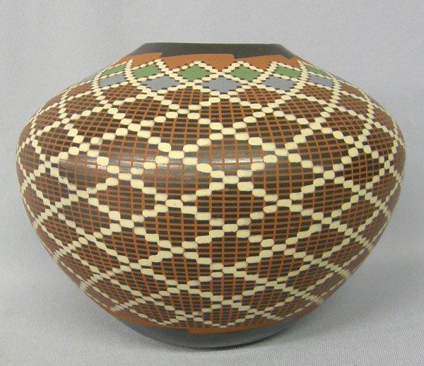 "1020: Mata Ortiz Pottery Olla by Ismael Sandoval 6""x8"""
