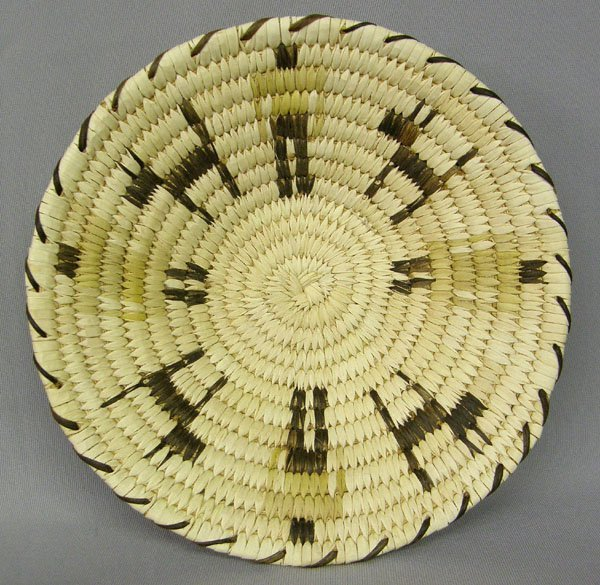 1022: Papago Basket With Animal & Human Figures 2 x 9''