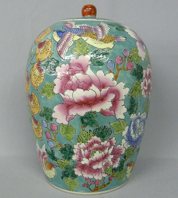 1023: Large Chinese Ginger Jar 13.5'' Tall