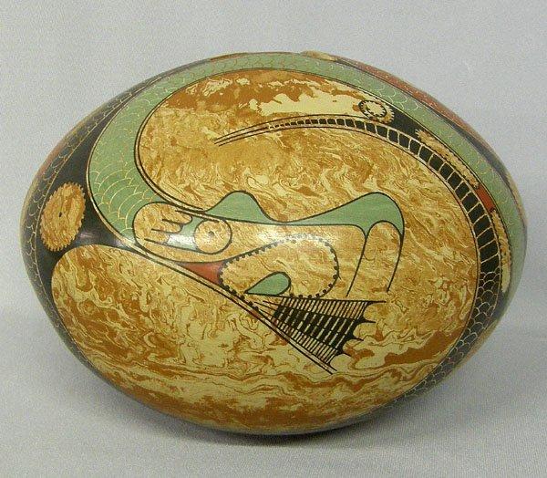 1231: Mata Ortiz Snake Olla By Ortiz & Vargas 7'' x 10'