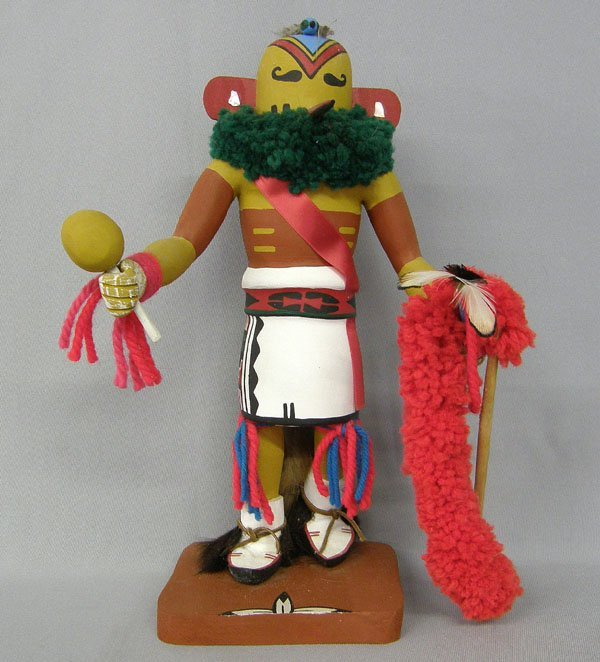 1236: Navajo Hummingbird Kachina by R Serracina 13'' x