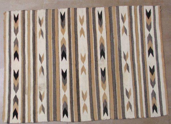 1245: Navajo Wide Ruins Textile Rug 53'' x 38''