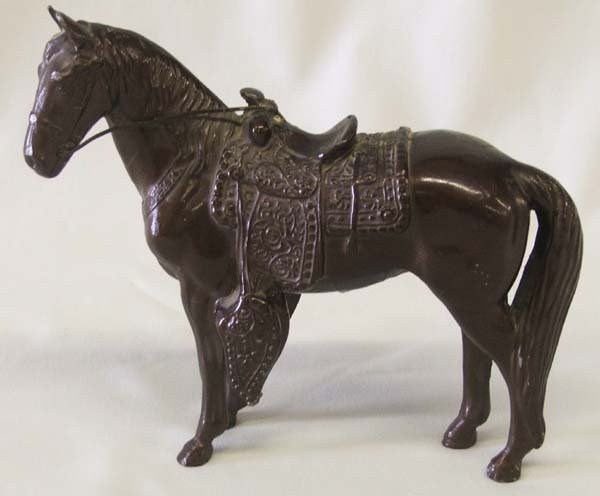 1000: 1940s-50s Cast Metal Horse Statue 5.8'' Tall