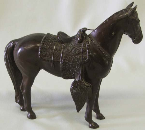 1000: 1940s-50s Cast Metal Horse Statue 5.8'' Tall - 2
