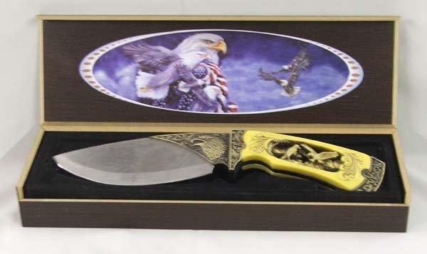 "1001: Eagle Collector Kniife in presentation box  9.5""L"