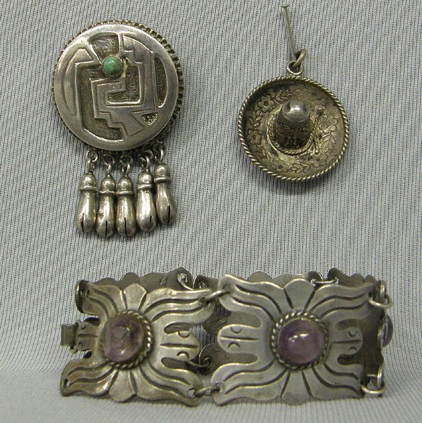 1005: Collection Of Assorted Mexican Sterling Jewelry
