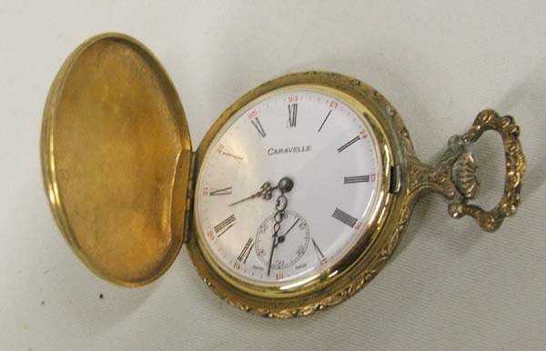 1006A: Caravelle Pocket Watch With Hunting Scenes