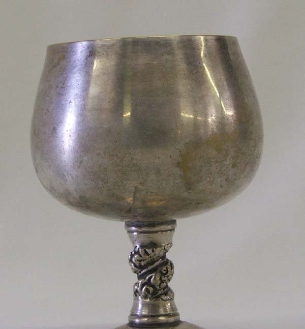 1011: Valero Spanish Silver Wine Goblet 4'' Tall - 3