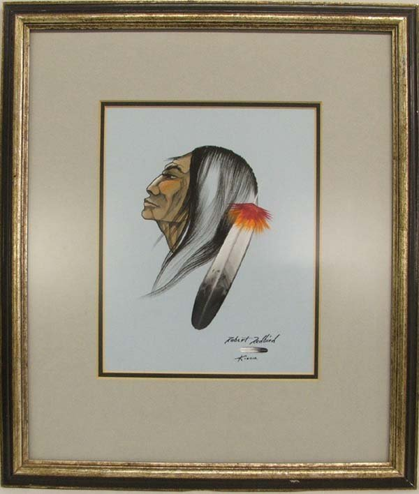 1119: Original Kiowa Painting By Robert Redbird 18x15