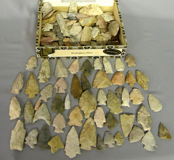 1383: Collection of Prehistoric Arrowheads