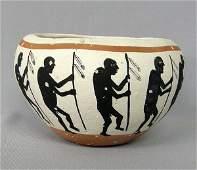 Southwestern Style Pottery Bowl By Bartos 4 x 6