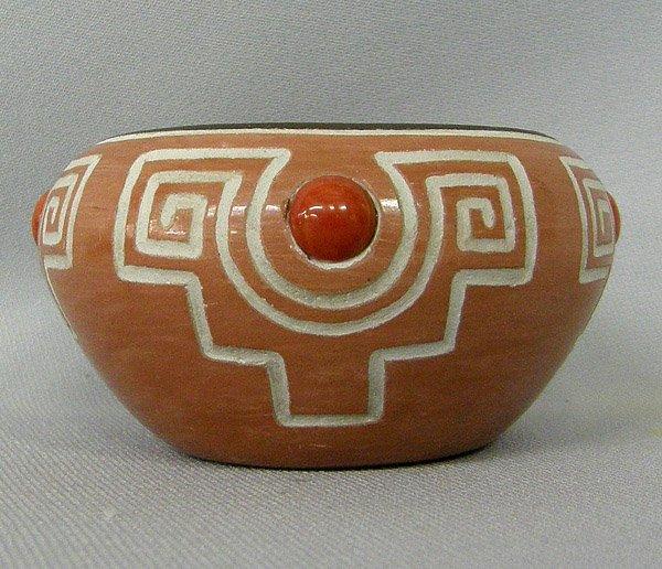 Hopi Small Pottery Bowl Signed 1.5'' x 3.25''