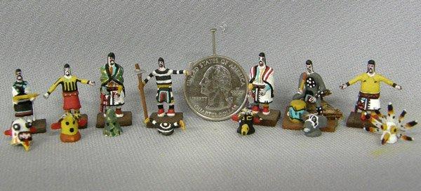 7 Miniature Kachinas 1'' Tallest