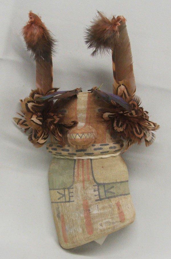 Hopi Badger Kachina By Merlin Kopelva 8'' Tall