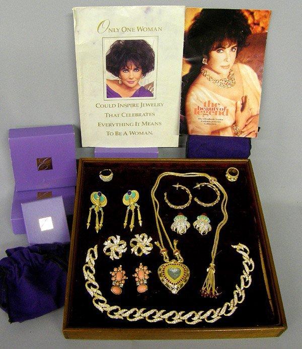 "9 Piece Elizabeth Taylor Jewelry Collection, 22"""