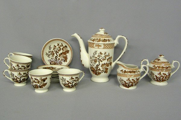 Nasco 6 Serving Tea/Coffee Set Indian Tree Pattern