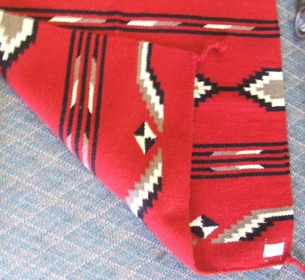 El Paso Saddle Blanket Co. Wool Rug/Blanket 32x64'' - 2