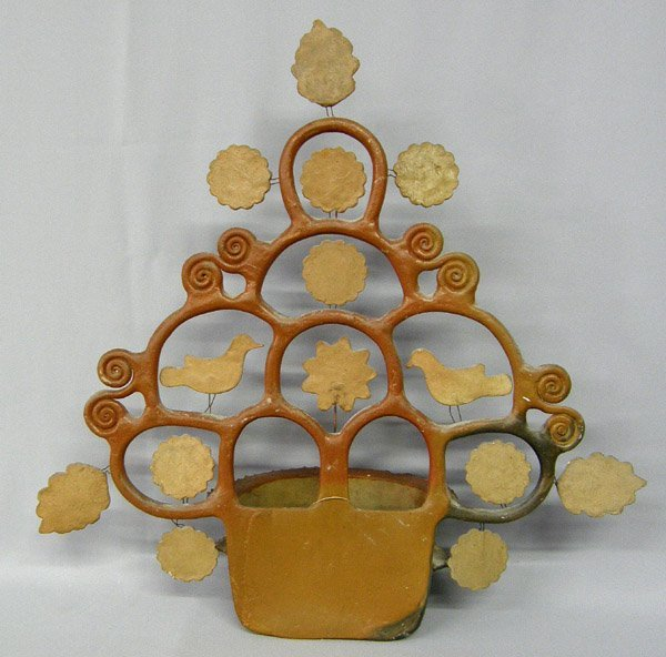 Mexican Pottery Tree of Life Hanging Planter 2l''x21'' - 2