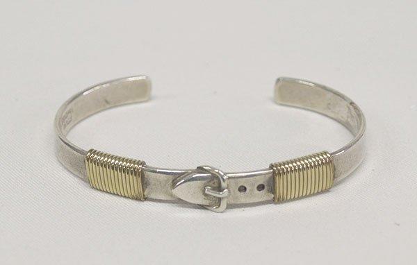Sterling Silver Bracelet Belt Buckle Design 6.5''