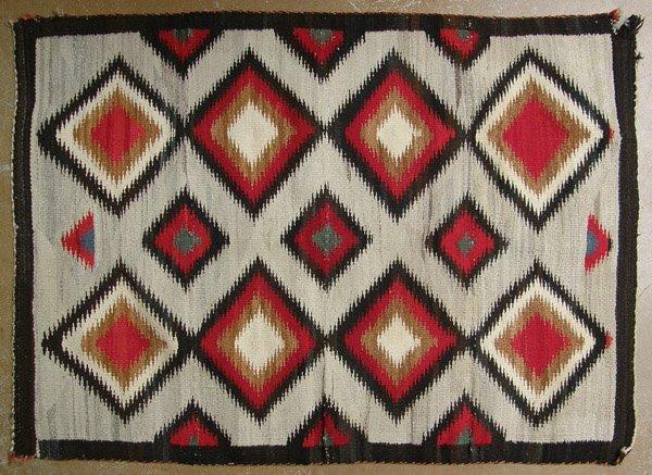 1940s Navajo Serrated Diamond Pattern Rug 49''x35''