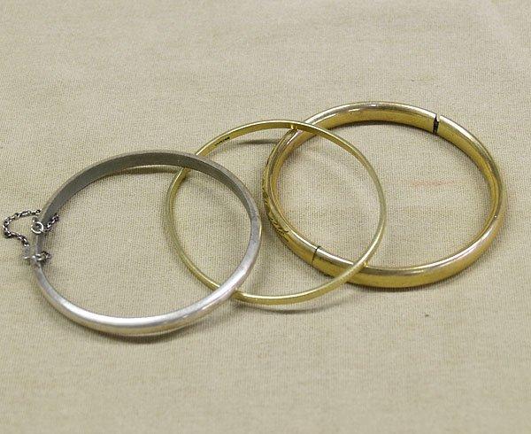"""1306: 3 Estate Bangle Bracelets, all marked  7"""" inside"""