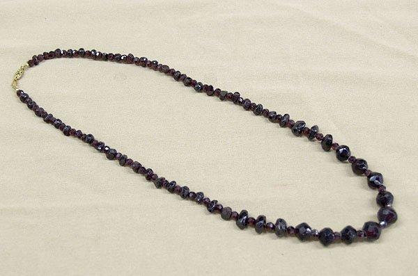 """1308: Estate Garnet Necklace, 24""""L"""
