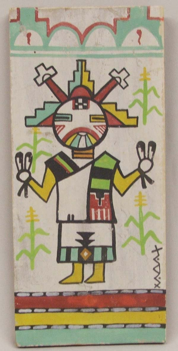 Hopi Painting on Board of  Kachina by Stacey 12''