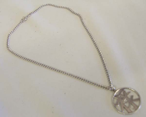 Sterling Silver Asian Necklace & Pendant 16'' Chain