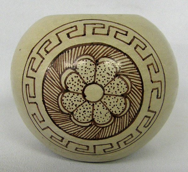 Navajo 1987 Pottery by H Sales  2.5'' x 2.5''