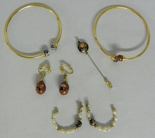 5pc  Cloisonne' Jewelry-Bracelets, Earrings, Pins