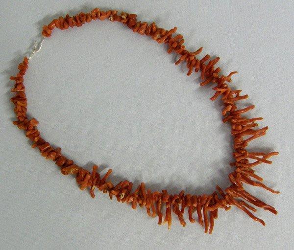 Navajo Branch Coral Necklace 18''