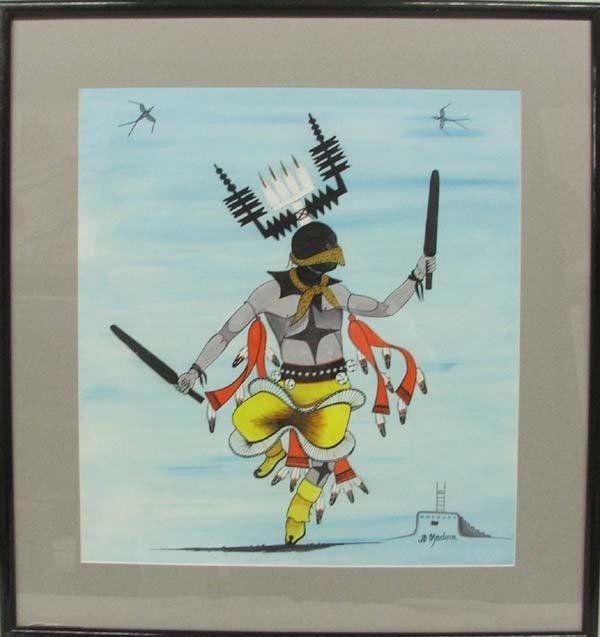 Original Zia Painting By J. D. Medina 21'' x 19''