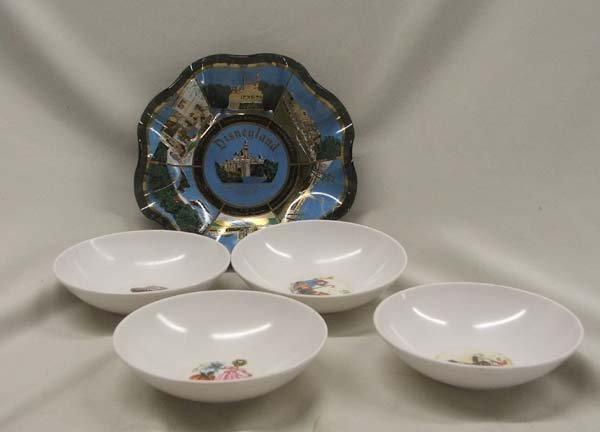 5 Walt Disney Childrens Bowls & Candy Dish