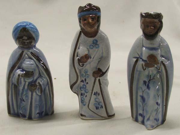 13 Pc. Tonala Mexican Ceramic Nativity Set - 3